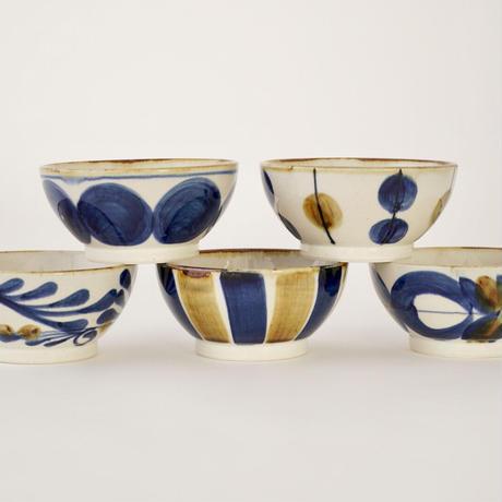藍ブルー 小鉢 丸紋