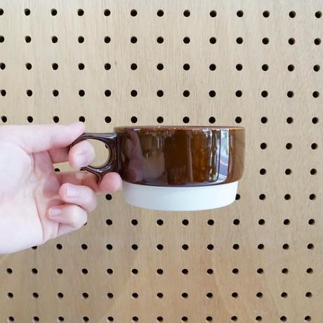 スタックススープマグ  磁器  ブラウン