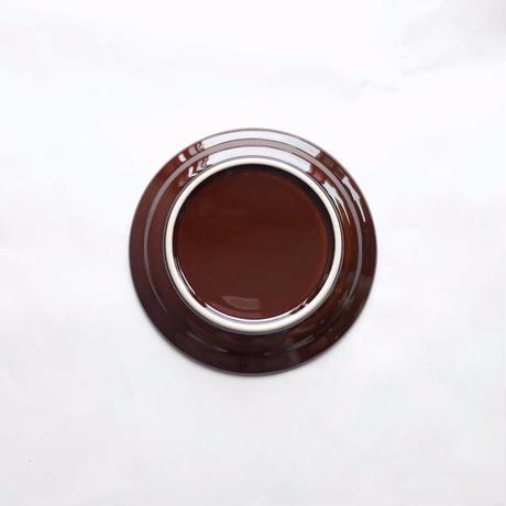 150プレート 磁器 ブラウン