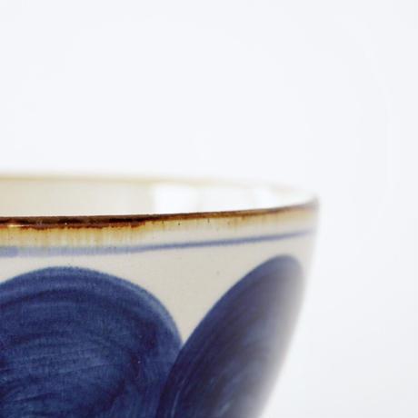 藍ブルー 丼ぶり 丸紋