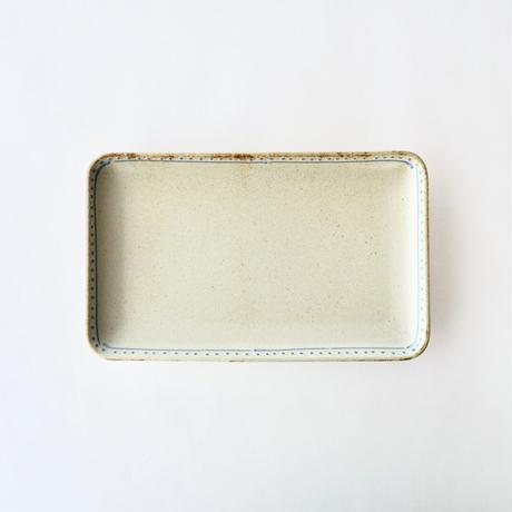 ブロンズ 長角皿 白銅