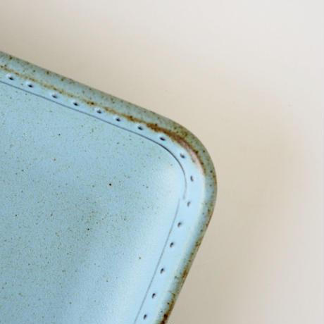 ブロンズ 正角皿 青銅