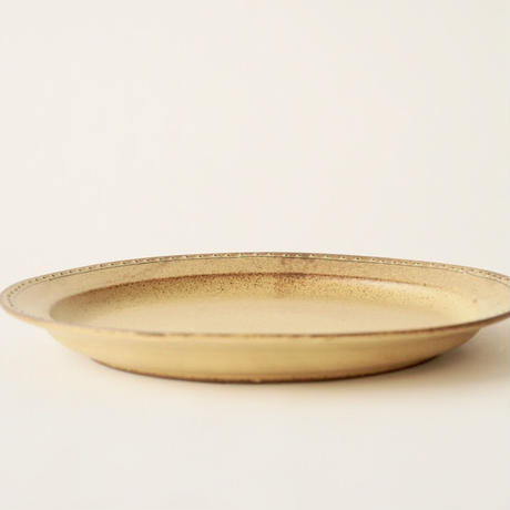 ブロンズ 24cmプレート 黄銅