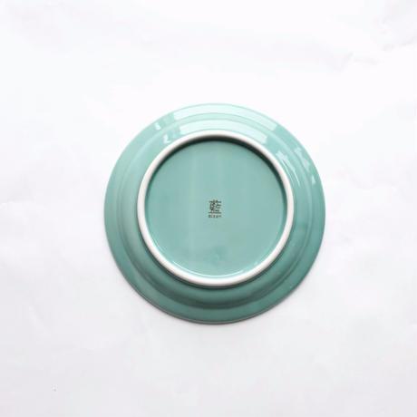 150プレート 磁器 ミントグリーン