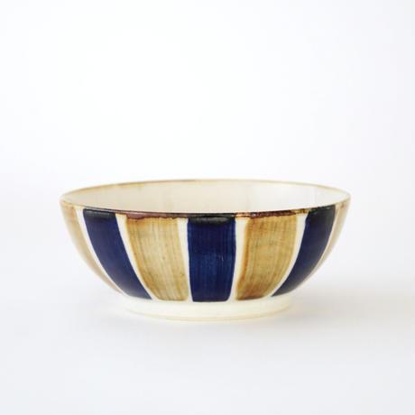 藍ブルー 平鉢 十草紋