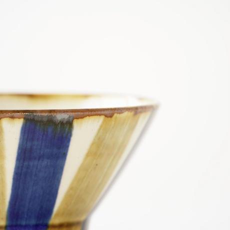藍ブルー くらわんか碗 十草紋