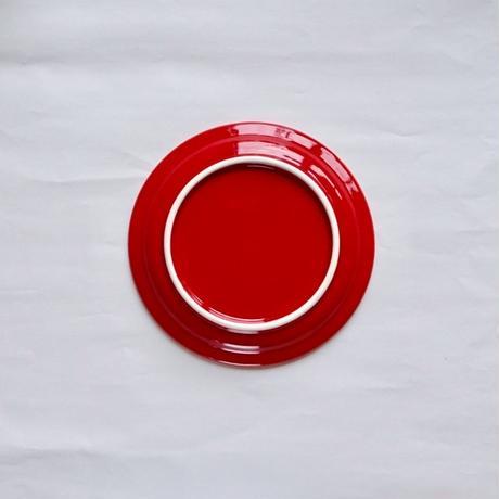 150プレート 磁器 レッド
