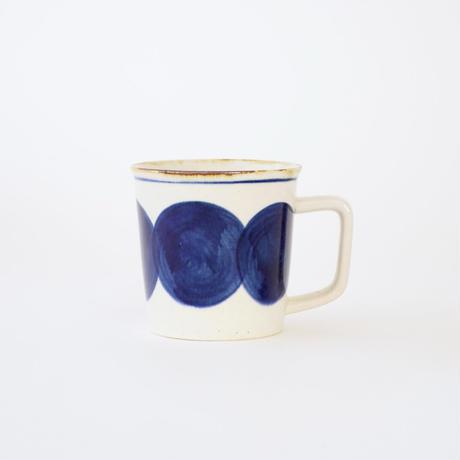 藍ブルー マグカップ 丸紋
