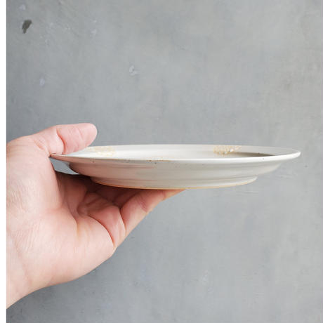 ステッチ 18cmプレート ホワイト