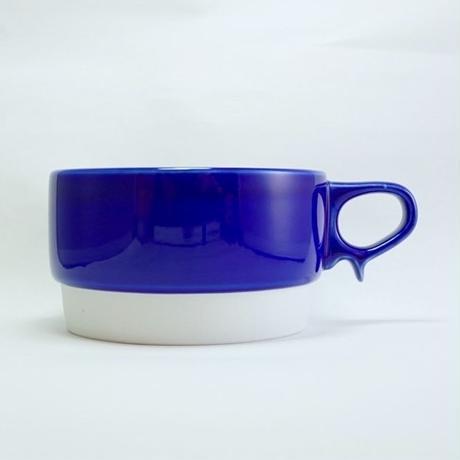 スタックススープマグ 磁器 ブルー