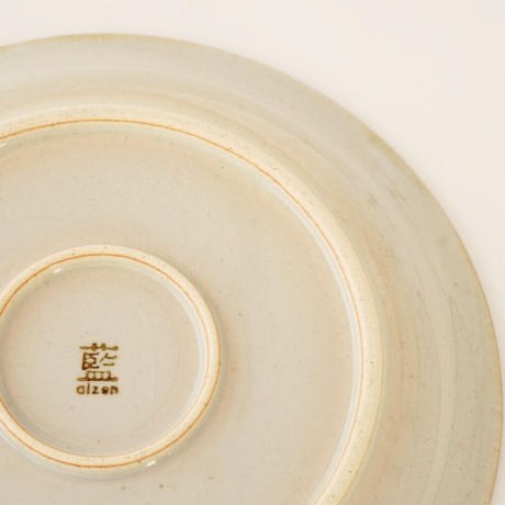 藍ブルー 18cmプレート 草花紋