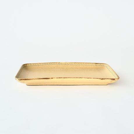 ブロンズ 長角皿 黄銅