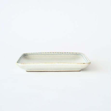 ブロンズ 正角皿 白銅