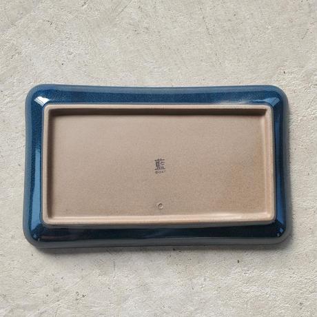 Furelu 長角皿 瑠璃