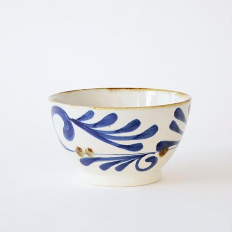 藍ブルー 丼ぶり 唐草紋