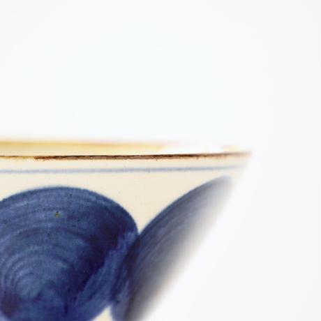 藍ブルー くらわんか碗 丸紋
