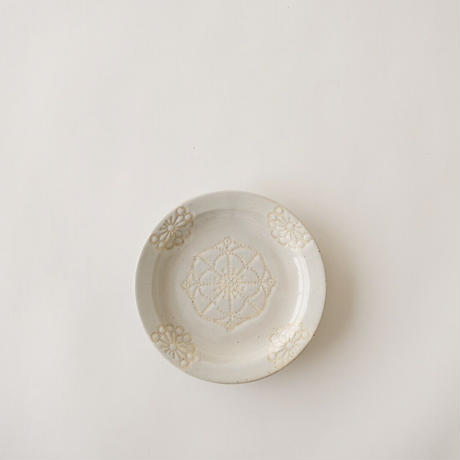 ステッチ 11cmプレート ホワイト