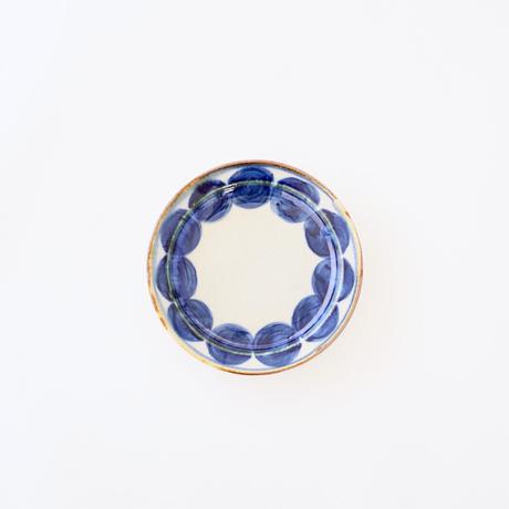 藍ブルー 11cmプレート 丸紋