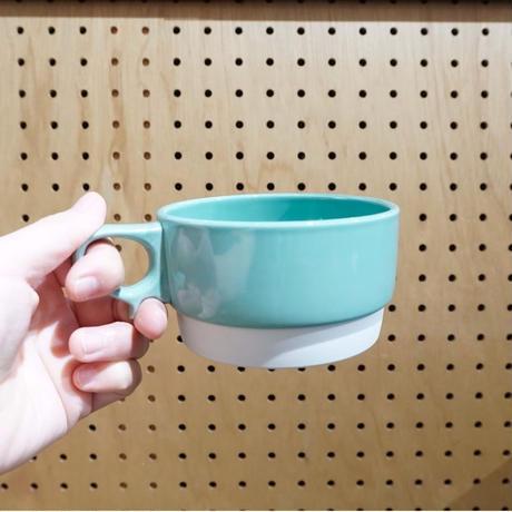 スタックススープマグ  磁器  ミントグリーン