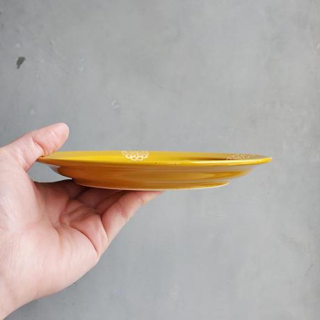 ステッチ 18cmプレート イエロー