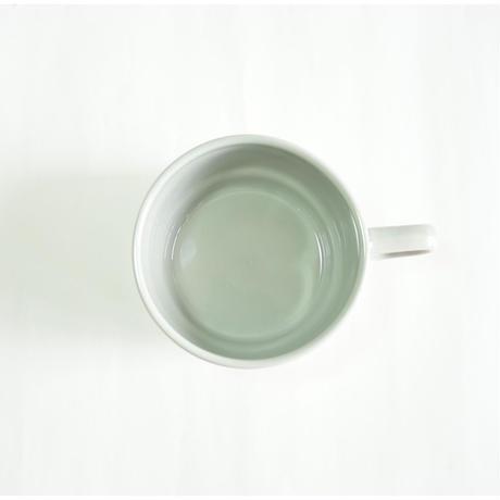 スタックススープマグ  磁器  ペールグレー
