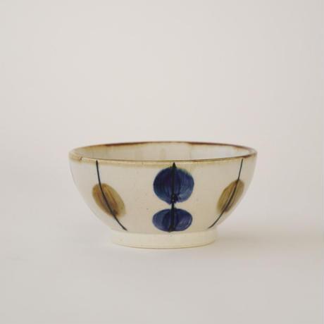 藍ブルー 小鉢 一珍水玉紋