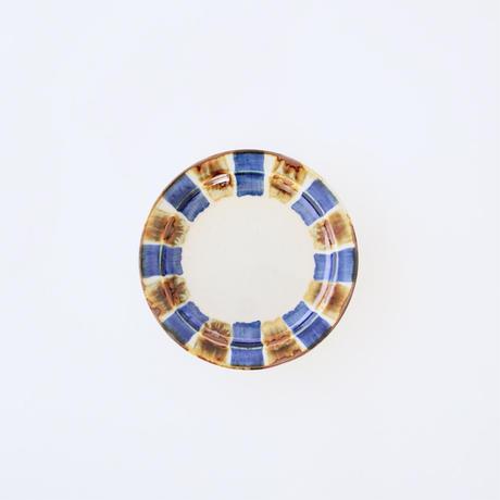 藍ブルー 11cmプレート 十草紋