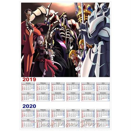 <2020年版> オーバーロード(OVER LORD) カレンダー A3サイズ キャラクター 2019年~2020年 42×30㎝ ポスター