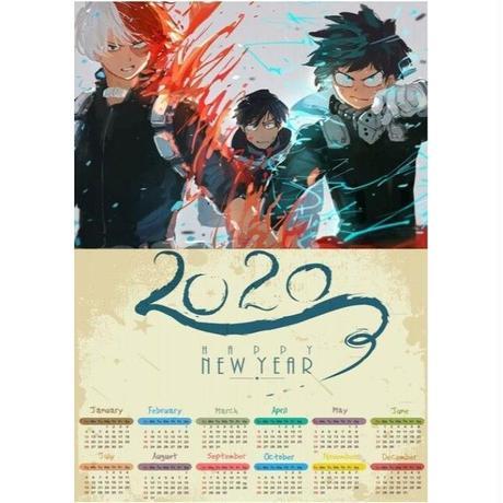 <2020年版> 僕のヒーローアカデミア ポスターカレンダー A3サイズ キャラクター 2020年 42×30㎝  Ver.4