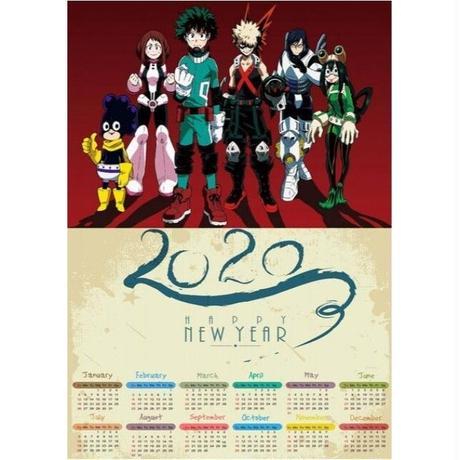 <2020年版> 僕のヒーローアカデミア ポスターカレンダー A3サイズ キャラクター 2020年 42×30㎝  Ver.14