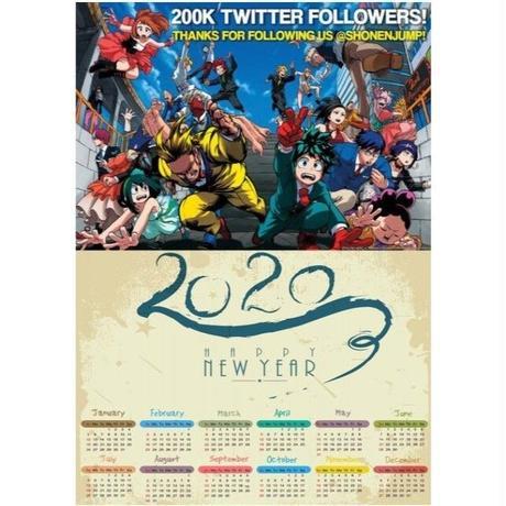 <2020年版> 僕のヒーローアカデミア ポスターカレンダー A3サイズ キャラクター 2020年 42×30㎝  Ver.6