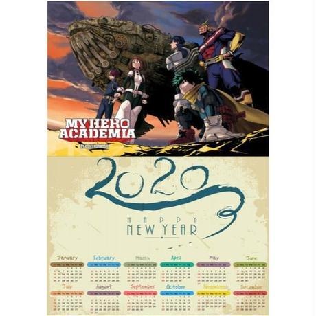 <2020年版> 僕のヒーローアカデミア ポスターカレンダー A3サイズ キャラクター 2020年 42×30㎝  Ver.10