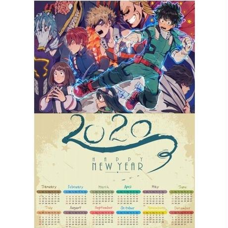 <2020年版> 僕のヒーローアカデミア ポスターカレンダー A3サイズ キャラクター 2020年 42×30㎝  Ver.15
