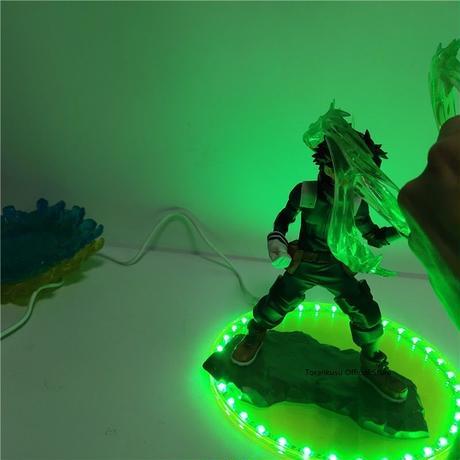 僕のヒーローアカデミア 緑谷出久 LEDライトアクションフィギュア 装飾 インテリア