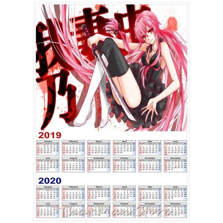 <2020年版> 未来日記(我妻由乃) クズの本懐 聲の形 初音ミク カレンダー A3サイズ キャラクター 2019年~2020年 42×30㎝ ポスター