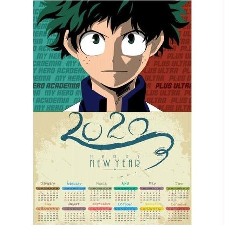 <2020年版> 僕のヒーローアカデミア ポスターカレンダー A3サイズ キャラクター 2020年 42×30㎝  Ver.12