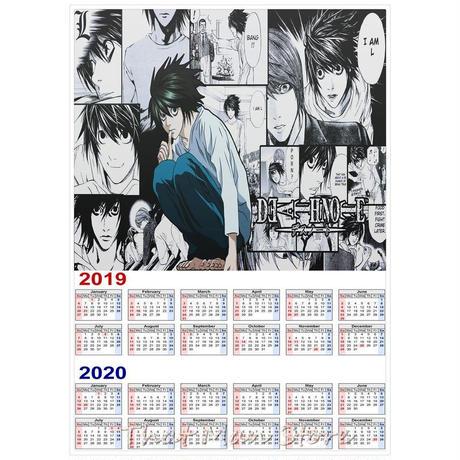 <2020年版> DEATH NOTE -L(エル)- カレンダー A3サイズ キャラクター 2019年~2020年 42×30㎝ ポスター