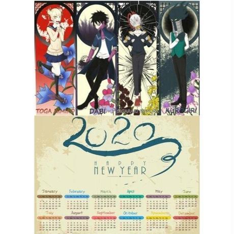 <2020年版> 僕のヒーローアカデミア ポスターカレンダー A3サイズ キャラクター 2020年 42×30㎝  Ver.16