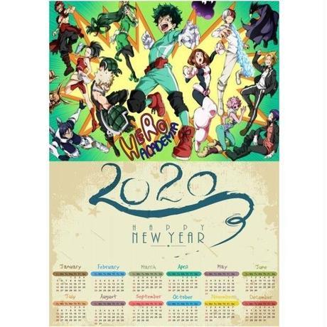 <2020年版> 僕のヒーローアカデミア ポスターカレンダー A3サイズ キャラクター 2020年 42×30㎝  Ver.2