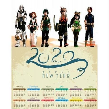 <2020年版> 僕のヒーローアカデミア ポスターカレンダー A3サイズ キャラクター 2020年 42×30㎝  Ver.7