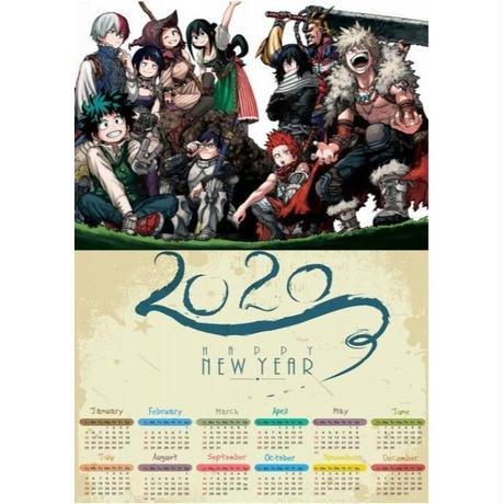 <2020年版> 僕のヒーローアカデミア ポスターカレンダー A3サイズ キャラクター 2020年 42×30㎝  Ver.9