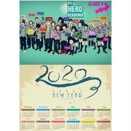 <2020年版> 僕のヒーローアカデミア ポスターカレンダー A3サイズ キャラクター 2020年 42×30㎝  Ver.13