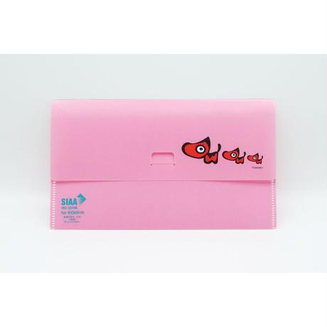 【3枚セット(ピンク)】あかべぇマルチケース フタ付き