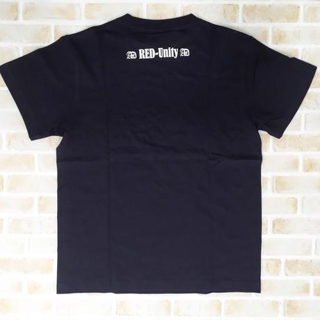 「RED-Unity」文字入りTシャツ(ネイビー×ホワイト)