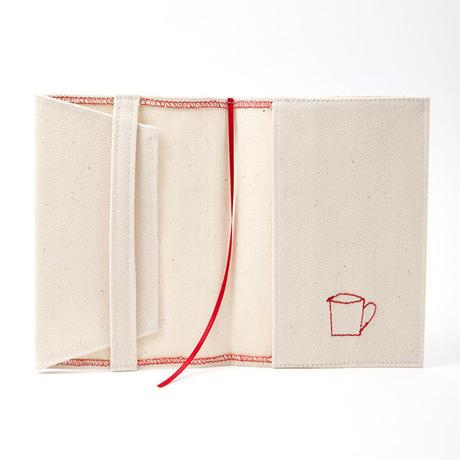 ブックカバー(文庫サイズ)ホワイトデニム