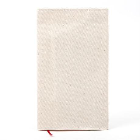 ブックカバー(新書サイズ)ホワイトデニム