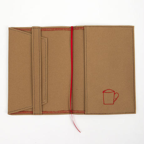 ブックカバー(文庫サイズ)ブラウン