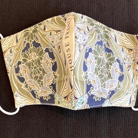 0-8 Vintage French fabric MASK (Art nouveau decor mask Number2