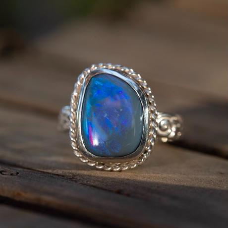 Australian KING BLACK Deep ocean Opal
