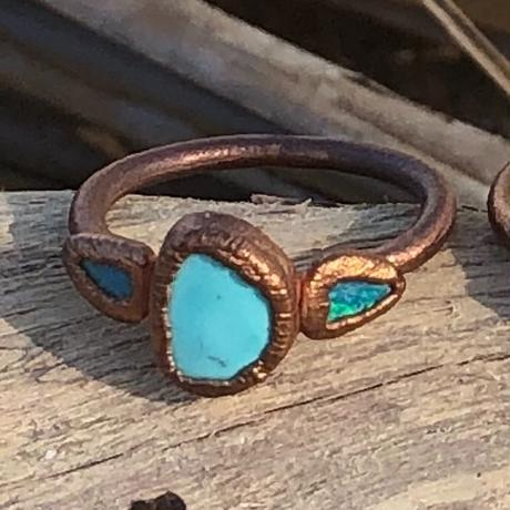 θεά   Turquoise with Opal jewelry